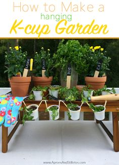 Garden Themed Party | How to make a Hanging K-Cup Garden My Starbucks, Party Entertainment, Me As A Girlfriend, How To Plan, How To Make, Party Themes, Planter Pots, Entertaining, Activities