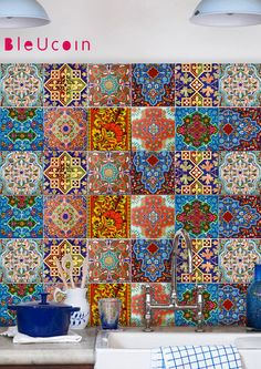 MOSCOW TALAVERA TILE DECAL   O R D E R . P A C K . I N C L U D E S QUANTITY : 11 designs x 4 = 44 tile decals SIZE : You can select the size from right side- size drop down button. In case you need a custom size , write to us, we will make it free of cost <3 COLOR: Mexican color palette INSTALLATION GUIDE FREE GIFT ❤   A B O U T Taking the inspiration from Mexican Talavera, we have created a wide range of tiles to mix and match for your kitchen corners or bathroom interior! The color palette…