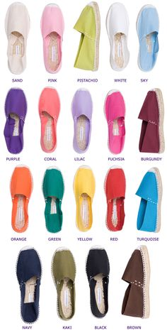 Traditional Spanish espadrilles