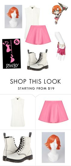 """""""Casual Cosplay for Nora Valkyrie from RWBY"""" by chibi-shinigami ❤ liked on Polyvore featuring DKNY, RED Valentino, Dr. Martens, Louis Vuitton, CasualCosplay, nora, RWBY and Valkyrie"""
