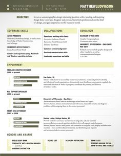 Resume, Templates And Resume Templates On Pinterest