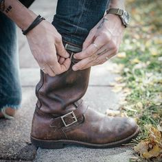 """4,441 Likes, 68 Comments - Red Wing Shoe Co. (@redwingheritage) on Instagram: """"The buckle at the top of our Engineer boots was initially designed to keep coal and ashes from…"""""""