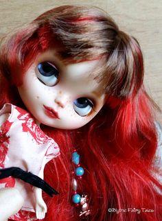 OOAK Custom BLYTHE doll  SCARLETT  by Blythe by BlytheFairyTales