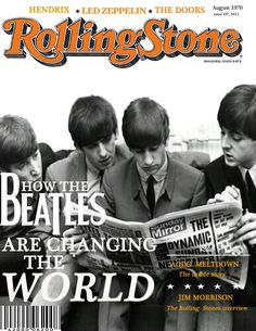 The Rolling Stones Magazine Cover - The Beatles