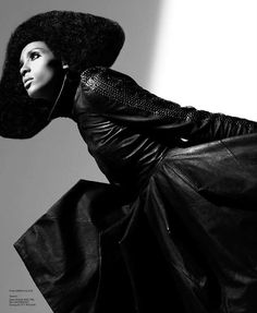 Avant-Garde Afros - This 'Eclipse' editorial in Volt Magazine is a study in avant-garde, outrageous hairstyles and monochromatic ...