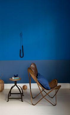 Blue interior. Foto: anne bråtveit Styling: line dammen