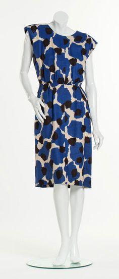 Summery YSL African Print Linen Dress, France, 1987 African Fashion Dresses, African Dress, Vintage Ysl, Vintage Fashion, Printed Linen, Dress Styles, High Neck Dress, Dresses For Work, France