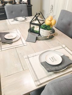 Bright and fresh everyday decor, this look lasts until Fall. I love the napkins from World Market too, a little bit of Rae Dunn of course!