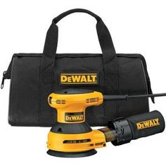DEWALT D26451K  Corded 3 Amp 5-Inch Random Orbit Sander with Cloth Dust Bag   DEWALT D26451K  Corded 3 Amp 5-Inch Random Orbit Sander with Cloth Dust Bag Built to deliver smooth, clean finishes, the DEWALT 5-Inch Random-Orbit Sander features DEWALT's trademarked Controlled Finishing System along with a 3.0 amp motor and an easy-to-control body with textured grips. A dust bag that helps keep your work space clean, a sealed-switch, and sealed ball bearings round out the sander's durabl..