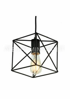 """Cubed """"X"""" Cage Pendant Lamp Color: Black Material: Matte Metal Pendant size: Length: x Width: Height: Save off with the purchase of Pendant Lamp, Pendant Lighting, Vintage Fashion, Vintage Style, Lamp Light, Ceiling Lights, Rustic, Retro, Front Porch"""