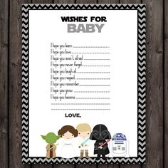 Starwars Baby Shower Wishes For Star Wars Game