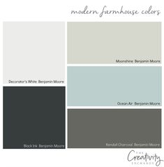 Moody Monday: Chic Modern Farmhouse Style Using muted colors for modern farmhouse design. - Add Modern To Your Life House Paint Exterior, Exterior Paint Colors, Exterior House Colors, Paint Colors For Home, Paint Colours, Exterior Paint Schemes, Stucco Colors, Modern Farmhouse Design, Farmhouse Chic
