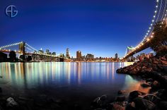Manhattan by night by A.G. Photographe, via Flickr