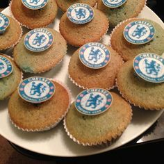 Cakes Chelsea Fc Team, Muffin, Cakes, Heart, Breakfast, Desserts, Blue, Food, Morning Coffee