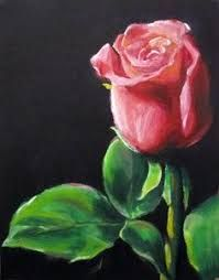 Image result for acrylic rose painting
