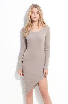 Love this angled hem, jersey dress, by JNBY.