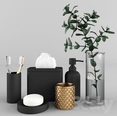 3d models: Bathroom accessories - A set of accessories for the bathroom