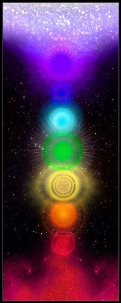 beautiful expansive chakras. notice the root & the crown are so connected to heaven & earth feeding the others amazing energy ❤