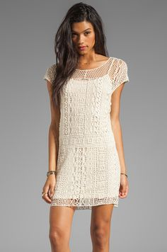 Ella Moss Hailee Crochet Dress in Natural | REVOLVE