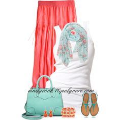 Coral and Aqua for Spring