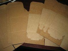 Kraft Cardboard Boxes/Crafts/Jewelry/Supplies/Tarts