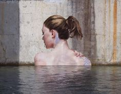 Artist Sean Yoro makes street art on quarry walls. He makes it while standing on a longboard above water.