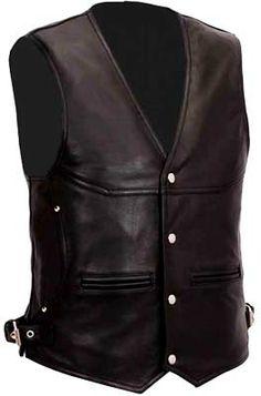 men leather vests