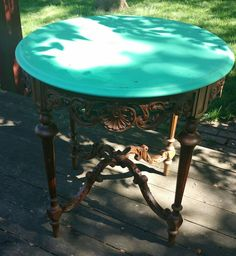 Antique table with Amy Howard paint