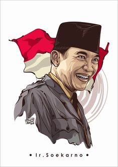 Soekarno on Behance Caricature, Design 3d, Military Drawings, Indonesian Art, Vector Portrait, Airbrush Art, Portrait Illustration, Dark Fantasy Art, Galaxy Wallpaper