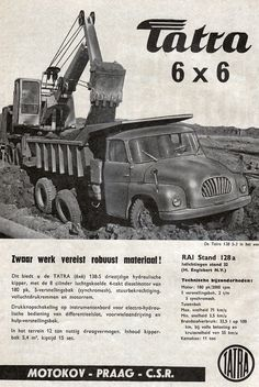 Advertisement - Tatra 6x6 Truck 6x6 Truck, Truck Art, Car Advertising, Fire Engine, Cool Trucks, Old Pictures, Old Cars, Volvo, Cars And Motorcycles