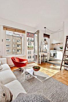 Дизайн малогабаритных квартир (47 фото): увеличиваем жилое пространство http://happymodern.ru/dizajn-malogabaritnyx-kvartir-47-foto-uvelichivaem-zhiloe-prostranstvo/ Небольшая кухня-студия