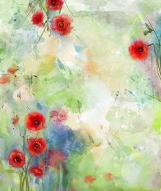 Red poppy flower with scenic watercolor background Royalty Free Stock Photo Muslin Backdrops, Vinyl Backdrops, Custom Backdrops, Studio Backdrops, Art Floral, Abstract Flower Art, Watercolor Background, Watercolor Flowers, Beautiful Flowers Pictures