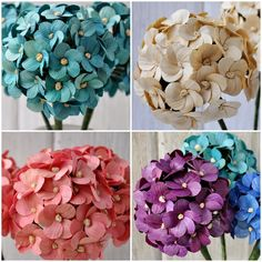 Reduce. Reuse. Recycle. Replenish. Restore.: DIY: How To Make Hydrangea or Million Flowers Using Dried Corn husks