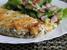 Kulinarne Spotkania: Ryba pieczona z pieczarkami