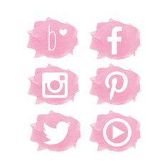 Creating Your 2018 Social Media Calendar Social Media Branding, Social Media Icons, Cute Wallpapers, Wallpaper Backgrounds, Youtube Design, Social Media Calendar, Estilo Blogger, Watercolor Logo, Instagram Highlight Icons