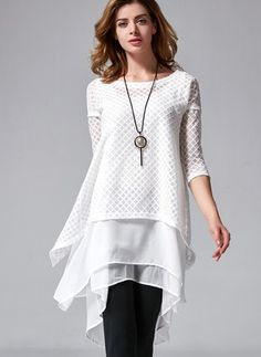 Chiffon Cotton Polyester Solid 1031972/1031972 Sleeves Above Knee Casual Dresses (1031972) @ floryday.com
