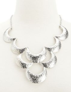 Tiered Scalloped Statement Necklace: Charlotte Russe