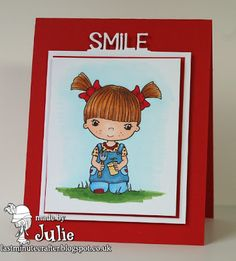 """Little Miss Muffet Stamps - Little Sprout and the """"smile"""" is from the Your Next Stamp Journal Card Bracket Insert"""
