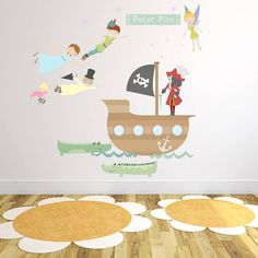 Peter Pan Fabric Wall Stickers from notonthehighstreet.com
