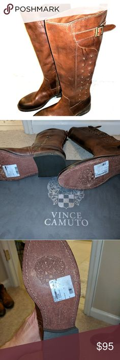 Vince Camuto size 9 boots Vince Camuto brown leather boots new without box. Vince Camuto Shoes
