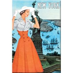 NYC Fashion, 1950 Wrapped Canvas Art