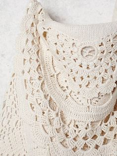 crochelinhasagulhas: Bolsa branca em crochê