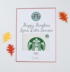 Fall Starbucks Gift