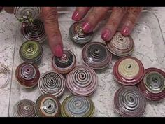 How to: Tightly Coiled Magazine Strips Paper Beads by JaniceMae