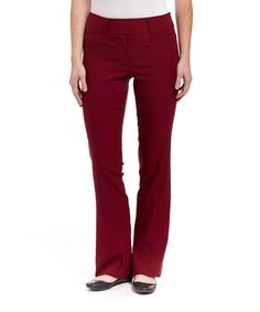 Loving this Leveret Burgundy Boot Cut Stretch Pants on #zulily! #zulilyfinds