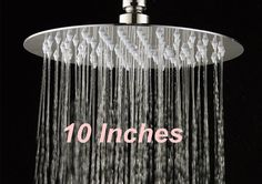 "NEW Brushed Nickel Luxury 10"" Rain Shower Head Wall Celling Mounted Shower Head #strongpop"