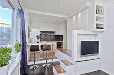 interiores modernos de espacio reducido