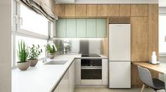 Návrh interiéru Borodáčova / Reconstruction of a flat in Bratislava Bratislava, Kitchen Cabinets, Flat, Home Decor, Bass, Decoration Home, Room Decor, Cabinets, Home Interior Design