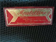 <b>From the early 1900s to mid-1950s, mascara didn't come in a tube — it came in a cute little box with a big brush.</b> I can't imagine how you'd put it on without making a big mess.