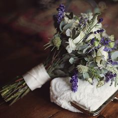 "Brides.com: 20 Ways to Wrap a Wedding Bouquet. Keep it Simple. Ivory ribbon was all this bouquet required to keep the look crisp and classic. The bride worked with  Marianmade Farm Fresh Florals to design a wedding that ""highlighted all the colors of fall, the rustic elegance and purity of Maine, while remaining organic to our vintage style.""  See more photos from this coastal wedding."